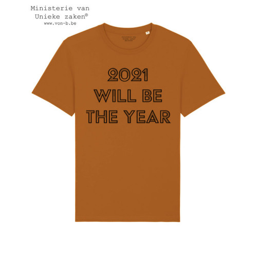 t-shirt unisex 2021 will be the year XL