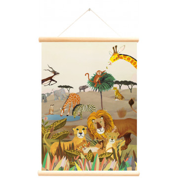schoolkaart wilde dieren dubbelzijdig