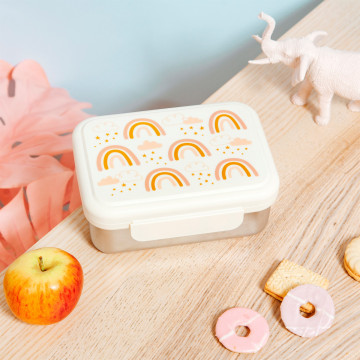 lunchbox RVS regenboog