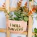 plantenhanger I will survive