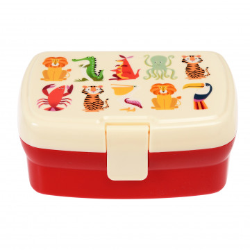lunchbox met klikdeksel en inzetstuk colourful creatures