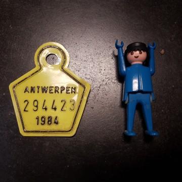 fietsplaat taksplaat  1984