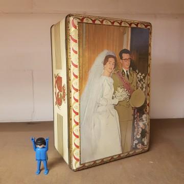 Huwelijk boudewijn en Fabiola blikken doos