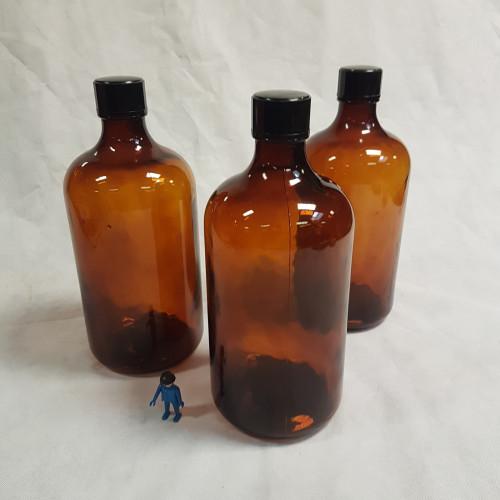 grote fles bruin met dop in bakeliet