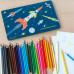 Doos kleurpotloden raket space