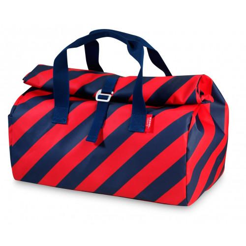 overnightbag stripe navy