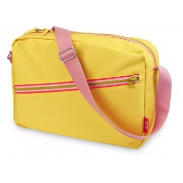 schoudertas zipper geel