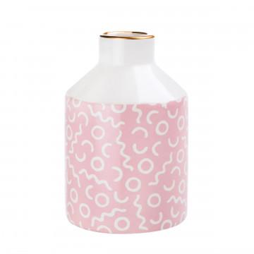 vaasje pastel roze wit