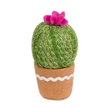 cactus gehaakt groen roze