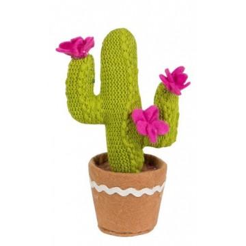 cactus gehaakt 3 bloemen