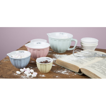 Set van 4 pastel maatbekers