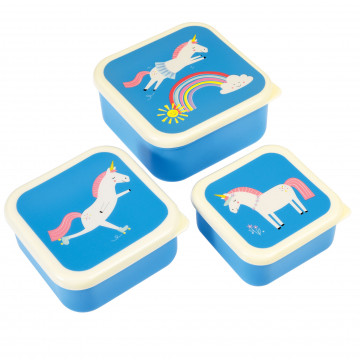 snackdoosjes set van 3 unicorn