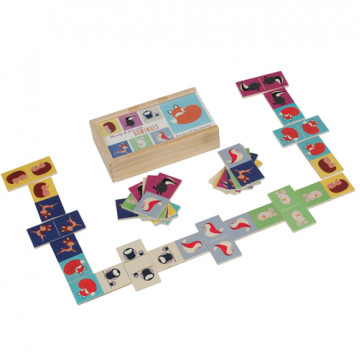 domino spel woodland